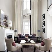 复式楼客厅窗帘