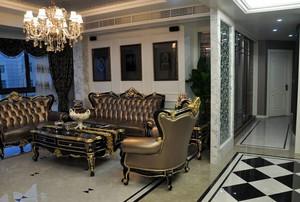 客厅欧式沙发摆放