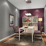 餐厅紫色浪漫背景墙
