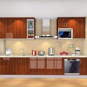 一字型厨房橱柜欣赏