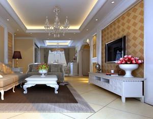欢畅轻快的单身公寓现代简欧客厅装修效果图大全