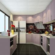 有弧度的家居厨房