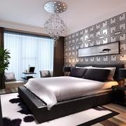 卧室精致的床头背景