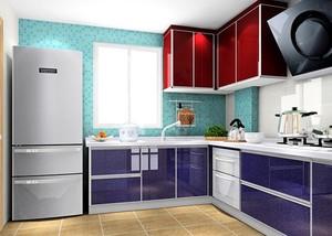 宽敞优雅的开放式厨房橱柜装修设计效果图