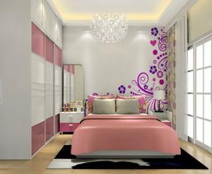 30平米浪漫主义温馨简美的卧室装修效果图