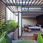公寓休闲娱乐的家居阳台