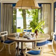 地中海餐厅圆形大餐桌