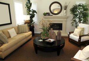 家居小客厅茶几装饰