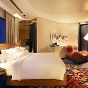 酒店舒适的卧室欣赏