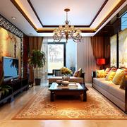 家居客厅中式吊顶展示
