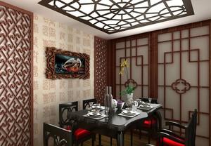 现代自然风格餐馆装修效果图