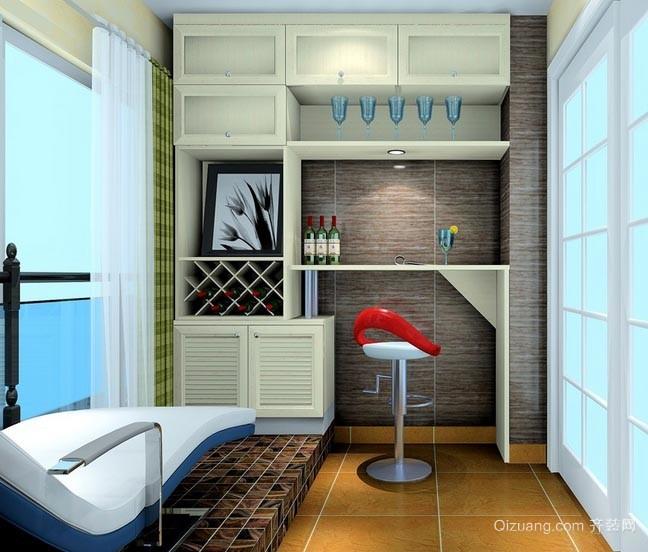 可以因地制宜的家居吧台装修设计效果图