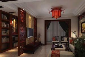 中国式庄重的客厅
