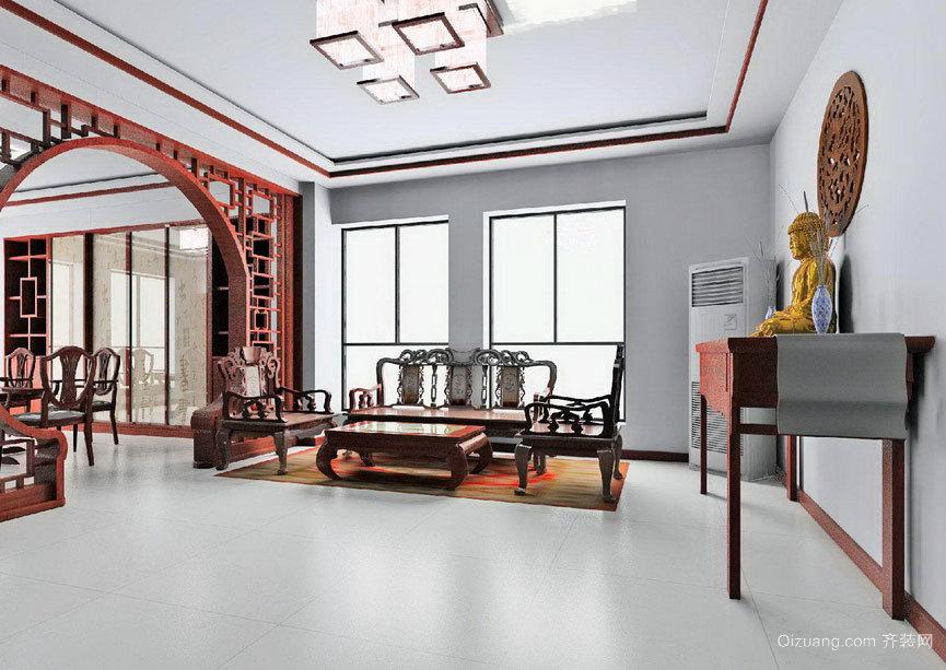 2015大户型舒心的简约中式客厅装修效果图大全