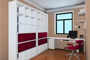 90平米小清新风格书柜装修效果图