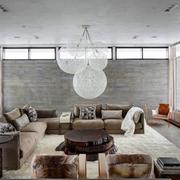 家居客厅优雅的大吊灯