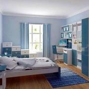 天蓝色的儿童房图片