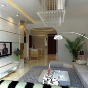 现代简约客厅石膏线