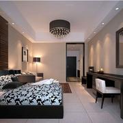 公寓黑白卧室装饰