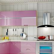粉色系的厨房橱柜