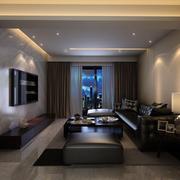 客厅遮阳挡光的大窗帘