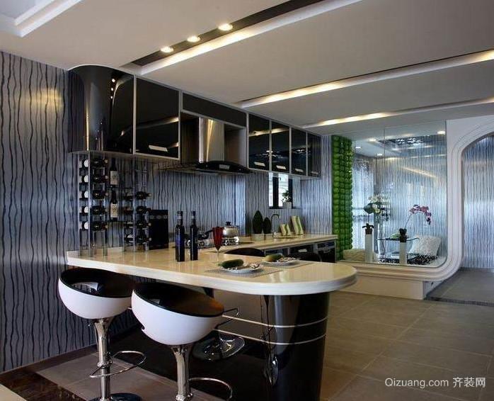 全新酒吧专用吧台设计装修效果图