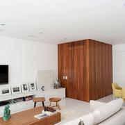 公寓洁白电视背景墙