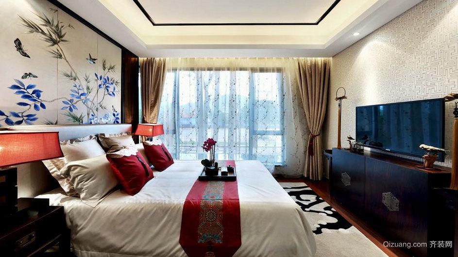 高贵典雅中式风格主卧室装修效果图