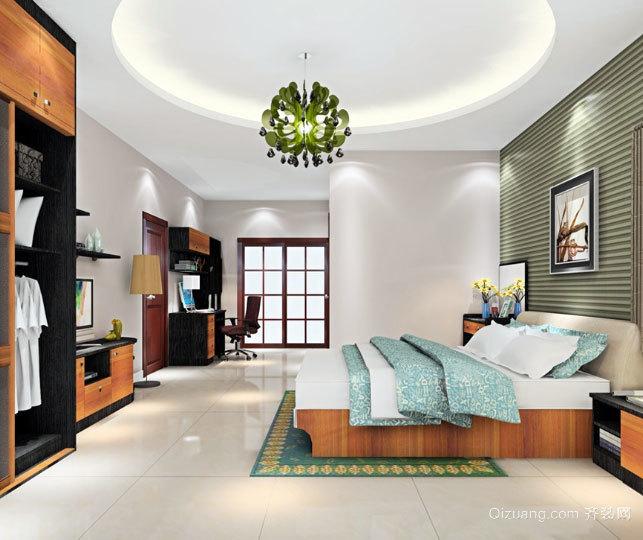 30平米欧式风格整体衣柜装饰卧室装修效果图