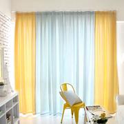 简洁明亮的客厅窗帘