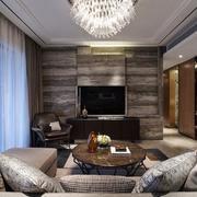 三室两厅客厅电视背景墙