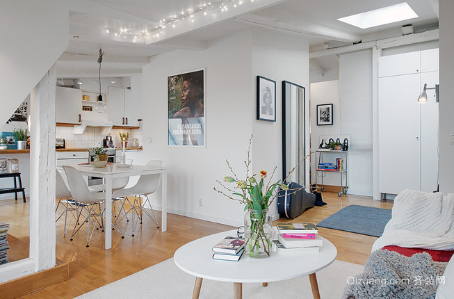 72平米阁楼公寓家居装修效果图鉴赏
