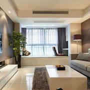 120平米房屋客厅置物柜