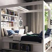 卧室床头书柜展示
