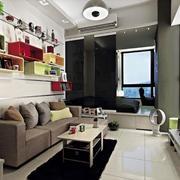 小户型公寓客厅收纳柜