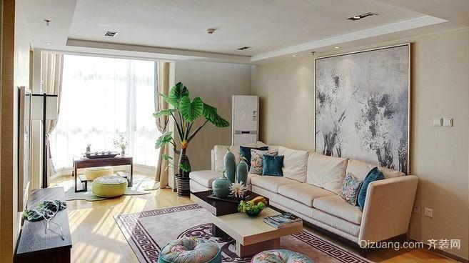 三室一厅都市简约大气的房屋装修效果图