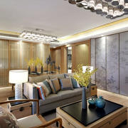 120平米客厅沙发布置