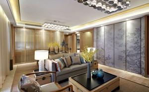 120平米中式禅意质朴清雅的房屋装修效果图