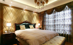 温馨恬淡的别墅窗帘效果图