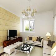 客厅瓷砖电视背景墙