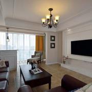 复式楼客厅白色电视背景