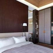 房屋卧室床背景墙