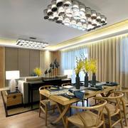 120平米房屋餐厅简约餐桌