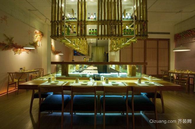 樱花之味:日式餐厅室内装修设计效果图