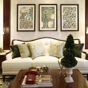 别墅客厅沙发装饰画展示