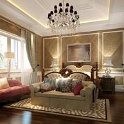家居豪华的高贵卧室图
