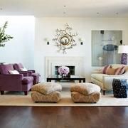 家居客厅沙发摆放展示
