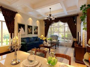 家居客厅石膏线吊顶