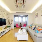 房屋客厅电视背景墙壁纸