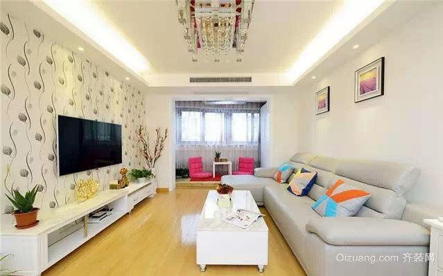 两居室房屋温馨自由现代简约风格装修设计效果图